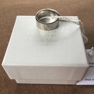 マルタンマルジェラ(Maison Martin Margiela)の20SS新品M メゾンマルジェラ ナンバリングロゴ リング 指輪 今期 シルバー(リング(指輪))