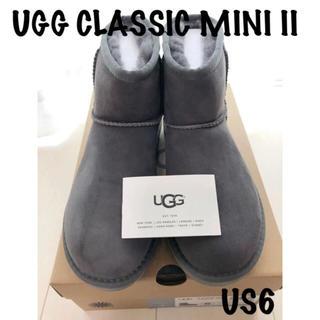 アグ(UGG)の正規品UGG アグ クラッシックミニ II US6 23cm グレー(ブーツ)