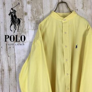 ラルフローレン(Ralph Lauren)の【激レア】ラルフローレン バンドカラー シャツ 長袖 ビッグシャツ 春カラー(シャツ)
