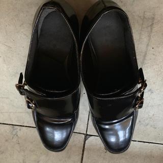 ランダ(RANDA)の*ランダ 厚底ローファー ブラック*(ローファー/革靴)