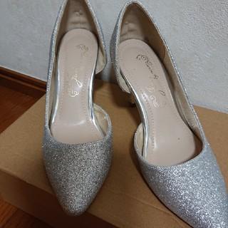 パーティー 靴 シルバー パンプス(ハイヒール/パンプス)
