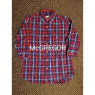 マックレガー(McGREGOR)のMcGREGOR チェックボタンダウン 七分袖シャツ マックレガー(シャツ)