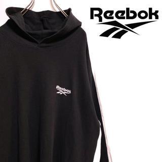 リーボック(Reebok)の〔ワンポイント〕90s Reebok リーボック パーカー サーマル 刺繍ロゴ(パーカー)