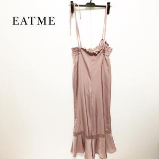 イートミー(EATME)の【EATME】ウエストギャザー キャミ サロペット 美品(サロペット/オーバーオール)