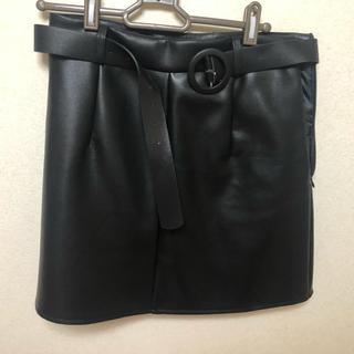 GRL - GRL レザー ミニ スカート