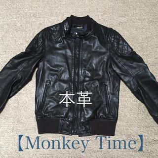 UNITED ARROWS - 美品!【monkey time】本革ライダース レザージャケット