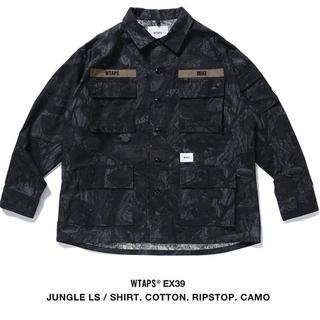 W)taps - WTAPS JUNGLE LS SHIRT RIPSTOP CAMO 黒 L