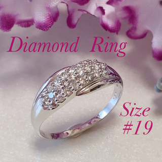 PT900天然ダイヤモンドリング(リング(指輪))