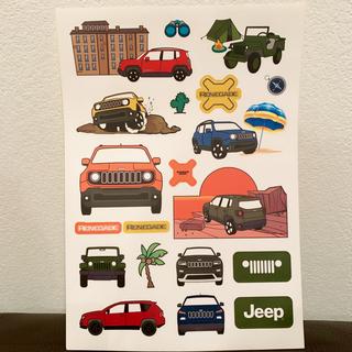 ジープ(Jeep)のJeep Renegade ジープ レネゲード 非売品 ステッカー シール 限定(車外アクセサリ)