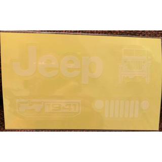ジープ(Jeep)のJeep ステッカー シール  クライスラー ラングラーチェロキー グラチェロ(車外アクセサリ)