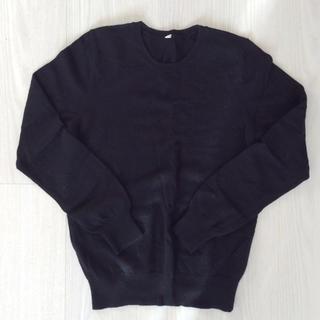 ユニクロ(UNIQLO)のユニクロ カシミヤセーター ブラック Lサイズ(ニット/セーター)