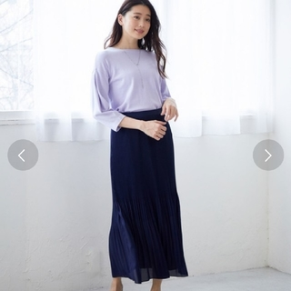 ロペ(ROPE)の新品 ROPE ロペ アコーディオンミニプリーツマキシスカート(ロングスカート)