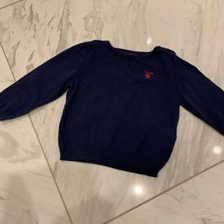 バーバリー(BURBERRY)のバーバリー綿セーター12Mネイビー(80センチ)(ニット/セーター)