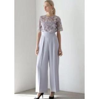 ラグナムーン(LagunaMoon)のラグナムーン パンツドレス  オールインワン  ラベンダー M(その他ドレス)