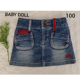 ベビードール(BABYDOLL)の【美品】BABY DOLL ベビド デニムスカート 100㎝(スカート)