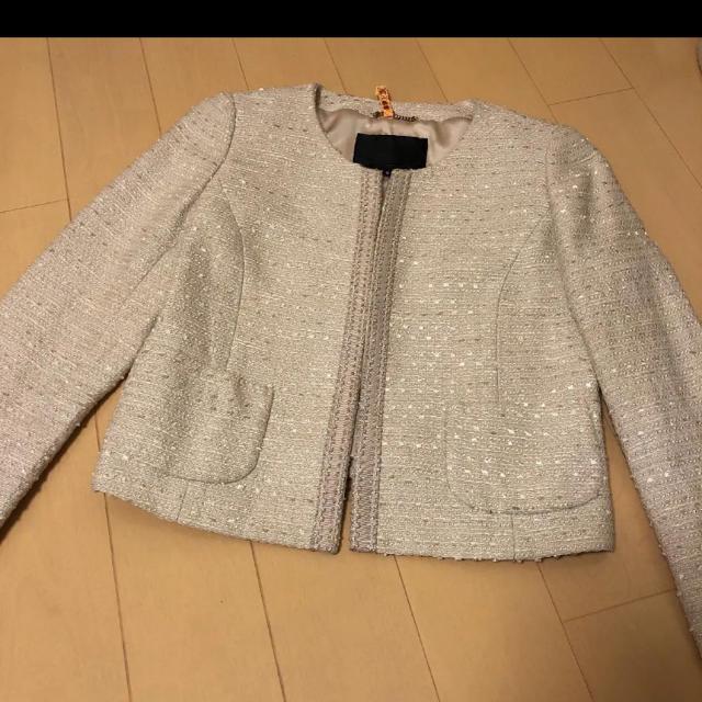 UNTITLED(アンタイトル)のアンタイトル   ママスーツ M 入学式 ピンク ワンピース レディースのフォーマル/ドレス(スーツ)の商品写真