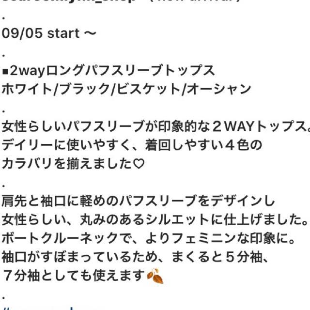 SeaRoomlynn(シールームリン)のsearoomlynn☆2wayロングパフスリーブトップス レディースのトップス(カットソー(長袖/七分))の商品写真