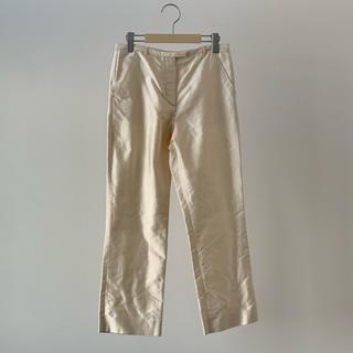 エルメス(Hermes)のHERMES エルメス ゴルチエ期 シルク スラックス パンツ 34 フランス製(カジュアルパンツ)
