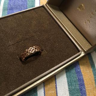 アガット(agete)のagete k10ダイヤモンド透かしリング(リング(指輪))