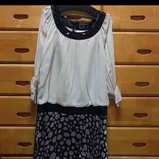 ダブルスタンダードクロージング(DOUBLE STANDARD CLOTHING)の新品タグ付き⭐︎グレースコンチネンタルワンピース(ミニワンピース)