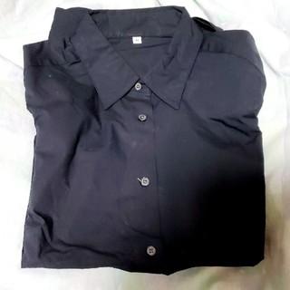 ムジルシリョウヒン(MUJI (無印良品))のブラックシャツ(シャツ/ブラウス(長袖/七分))
