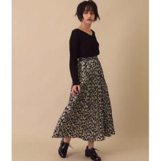 アナップ(ANAP)のANAP レオパード プリーツスカート(ロングスカート)