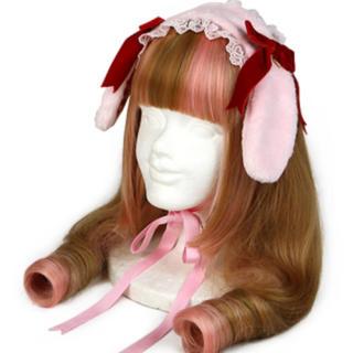 アンジェリックプリティー(Angelic Pretty)のアンジェリックプリティ ロップイヤーBunny ヘッドドレス ピンク(その他)