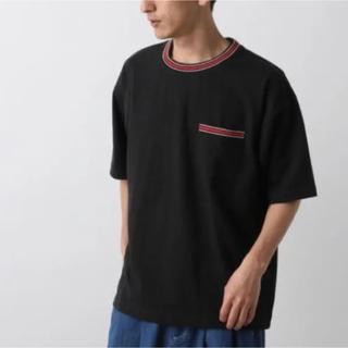 RAGEBLUE - RAGEBLUE リブラインドロップショルダーTシャツ