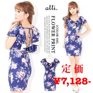 デイジーストア(dazzy store)の【alli.】flowerフレアスリーブタイトミニドレス(ナイトドレス)