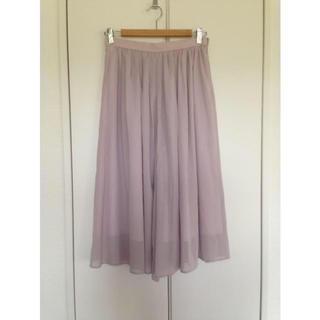 トゥモローランド(TOMORROWLAND)の美品 TOMORROWLAND 36サイズ スカート風キュロットpink(キュロット)