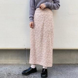 Kastane - 花柄レーヨンスカート