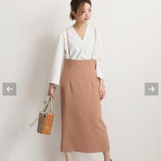 ノーブル(Noble)のNOBLE ショルダーストラップサロペットスカート  ピンク(サロペット/オーバーオール)