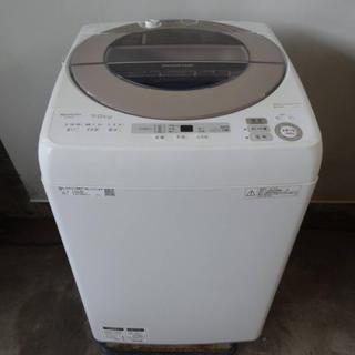 シャープ(SHARP)の美品 2018年製 SHARP 全自動洗濯機  ES-SH7C 送料無料(洗濯機)