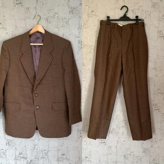 ジョンローレンスサリバン(JOHN LAWRENCE SULLIVAN)のセットアップ ブラウン 茶色 古着 80s 90s EMBASSY スーツ(セットアップ)