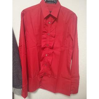 プラダ(PRADA)のPRADA 13AW フリルシャツ サイズ39(シャツ)