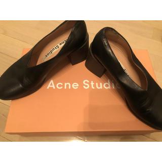 アクネ(ACNE)の【値下げ中】acne studious チャンキーヒールパンプス 35(ハイヒール/パンプス)