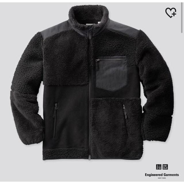 Engineered Garments(エンジニアードガーメンツ)のユニクロ engineered garments フリース サイズXL ブラック メンズのジャケット/アウター(ブルゾン)の商品写真