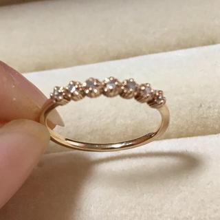 ジルスチュアート(JILLSTUART)のJILL STUART K10イエローゴールド×ダイヤモンド ピンキーリング(リング(指輪))