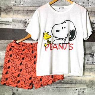【PEANUTS】スヌーピー セットアップ(Tシャツ/カットソー(半袖/袖なし))
