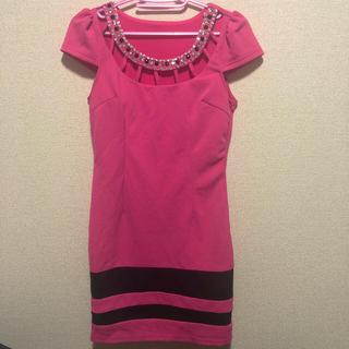 デイジーストア(dazzy store)のキャバドレス ミニドレス ピンク(ミニドレス)