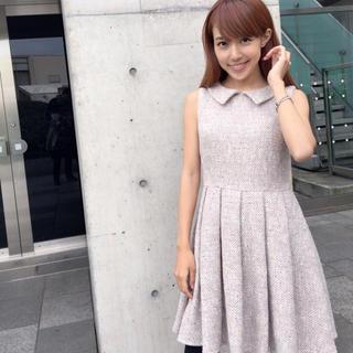 [selva secreta 川崎希さん]tweed dress ワンピース(ミニワンピース)