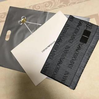 エンポリオアルマーニ(Emporio Armani)の洗練されたデザイン グレー系 贈答にお使いいただけます(マフラー)