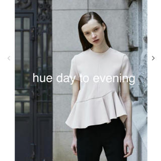 LE CIEL BLEU - hue day to evening PEPLUM TOPS M