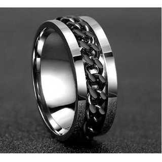チェーンリング(ブラック) サイズ:11号(リング(指輪))