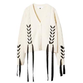 ルシェルブルー(LE CIEL BLEU)の23日迄販売 LE CIEL BLEU Cable Knit Cardigan(ニット/セーター)