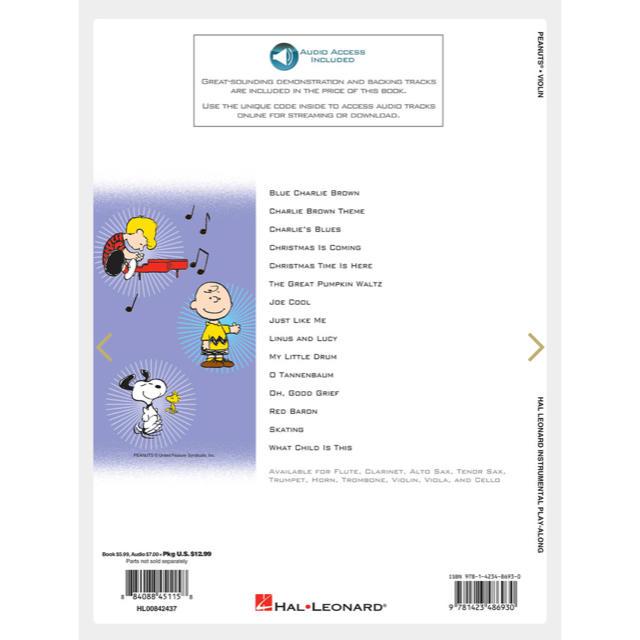 PEANUTS™ for Violin 楽器のスコア/楽譜(ポピュラー)の商品写真
