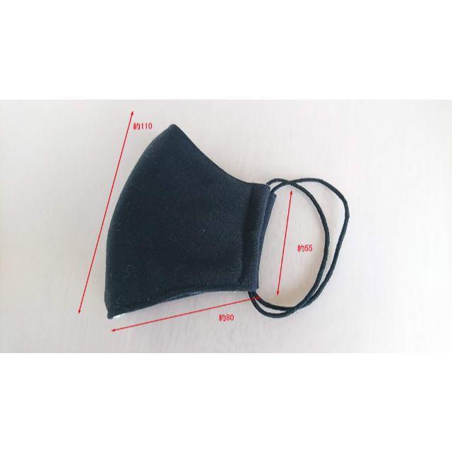 マスク 立体型 Wガーゼ 黒 洗濯可能 布 女性、子供用 小顔に見えるの通販