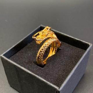 ドラゴンリング 竜モチーフ ゴールドリング(リング(指輪))