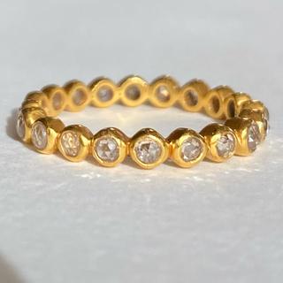 ローズカットブラウンダイヤモンドフルエタニティ リングk18マリーエレーヌ (リング(指輪))
