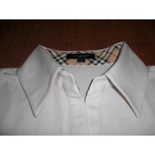 BURBERRY - 中古美品 バーバリーロンドン 半袖ポロシャツ 白 1